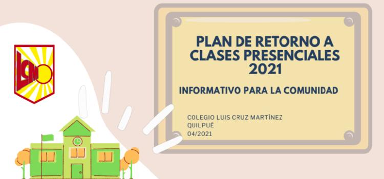 Actualización Plan de Retorno a Clases Presenciales 2021